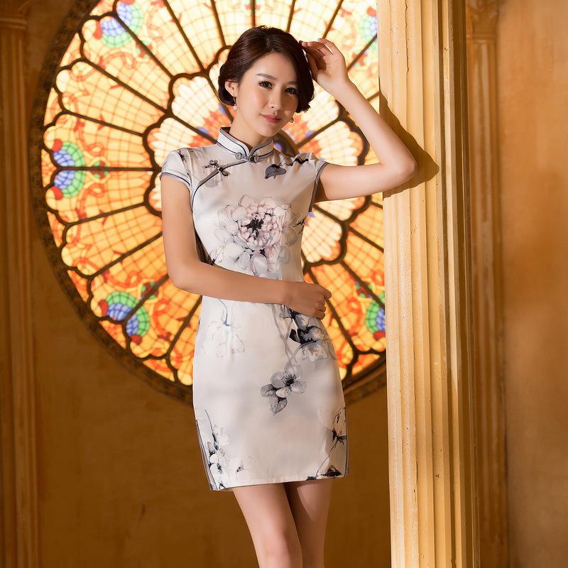 【美人旗袍素材篇】一眸一笑尽显十足女人味 - 浪漫人生 - .