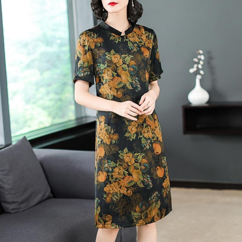 重磅真丝连衣裙女韩版显瘦桑蚕丝气质优惠券