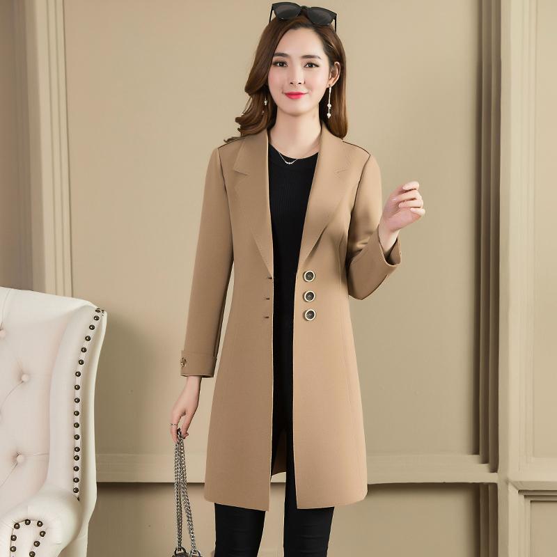 秋冬装风衣外套女气质大衣女风衣薄西装外套优惠券
