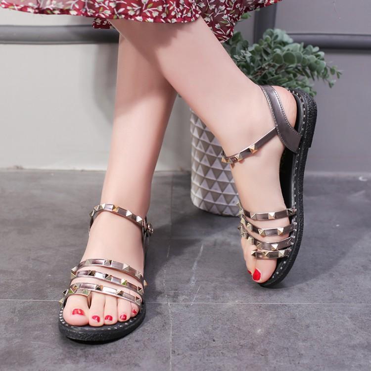 ESX女鞋韩版一字式扣带女凉鞋优惠券