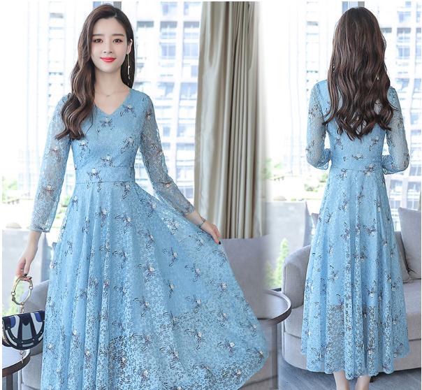 今年秋季流行的甜美雪纺裙,买一件送女票,穿上美得像天仙